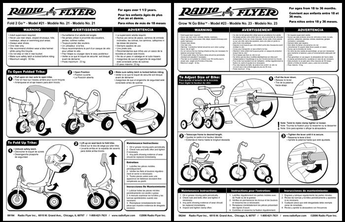 instruction leaflet template - instructional graphics